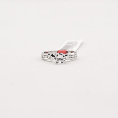 R. S. Covenant 4143 Sterling Silver CZ Ring Size 7
