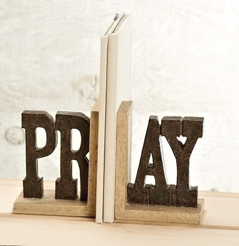 "Roman 10333 6.75"" Pray Bookends 2 Pc Set"