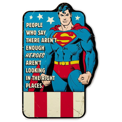 Hallmark SUPERMAN Embossed Metal Sign