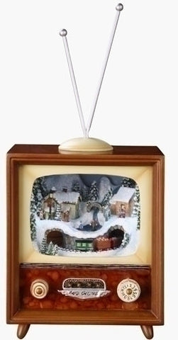 5.5'' Musical Tv/Train In Tunnel Revolving/Lighted 08/15/15