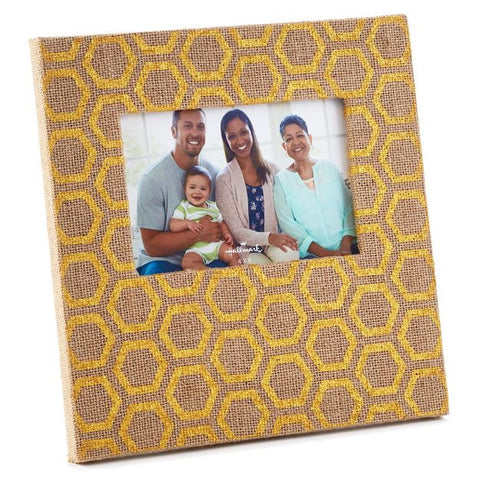 Hallmark FRG2167 Gold Foil Burlap Design 4x6 Photo Frame