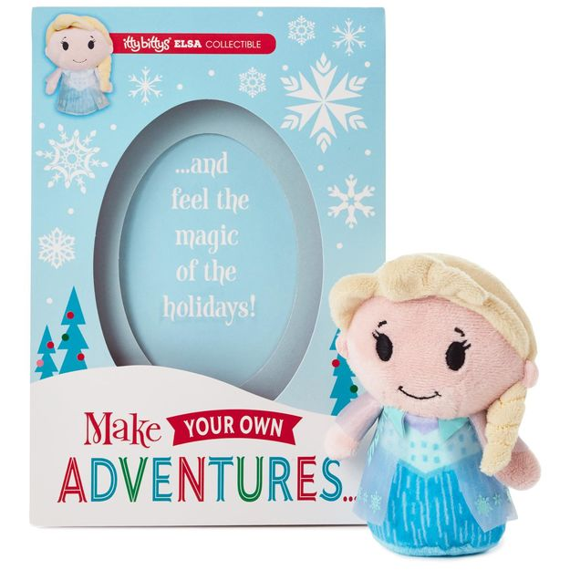 Hallmark Christmas Greeting Cards with Elsa Itty Bitty Plush ...