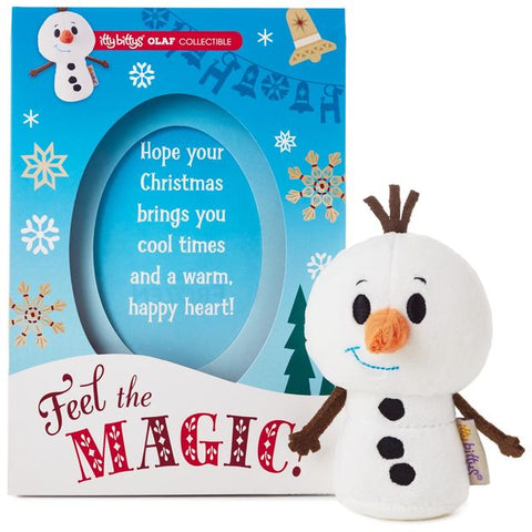 Hallmark Christmas Greeting Cards with Olaf Itty Bitty Plush