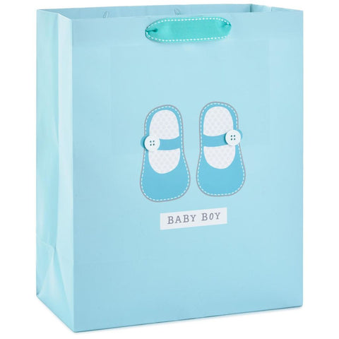 Hallmark Baby Boy Shoes Large Gift Bag