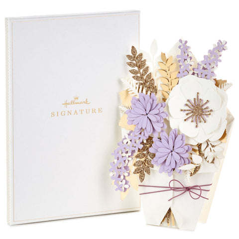 Hallmark Beautiful Day Flower Bouquet Birthday Card in Gift Box