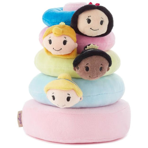 Hallmark 1KDD1333  itty bittys Disney Princess Baby Stuffed Animal Stacker
