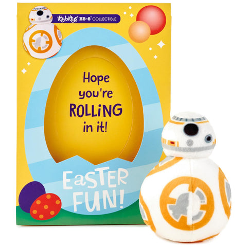 itty bittys Star Wars BB-8 Easter Card With Stuffed Animal