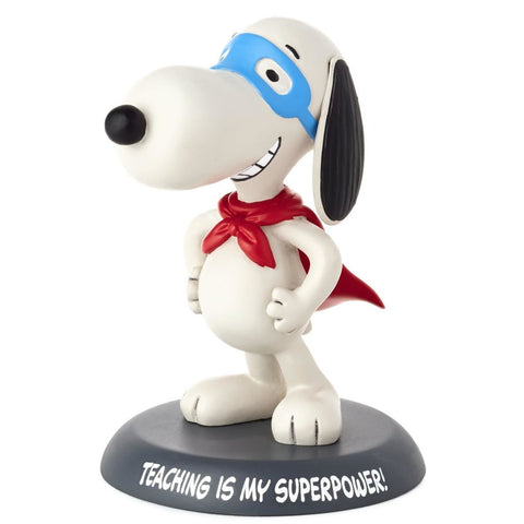 Hallmark Peanuts Snoopy Teaching Is My Super Power Figurine