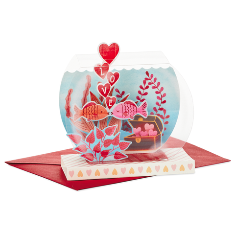 Hallmark Lucky In Love Fishbowl Pop Up Valentine's Day Card