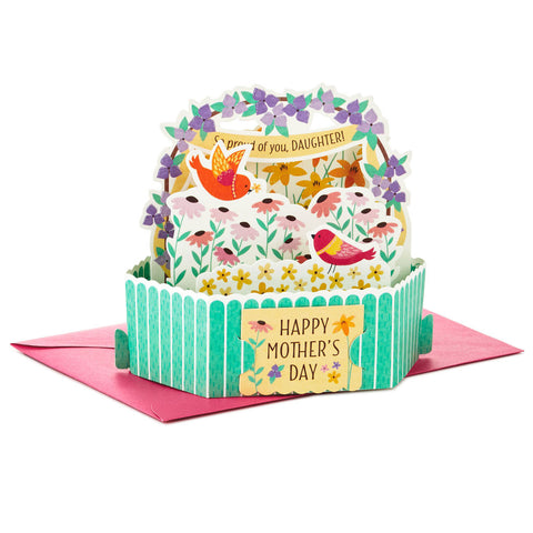 Hallmark Birds and Flowers Pop Up Mother's Day Card for Daughter
