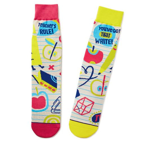 Hallmark 1SOX2108 Teacher Socks