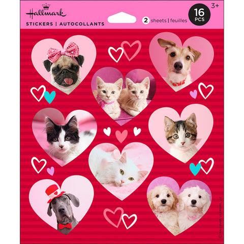 Hallmark Photo Pet Valentine Stickers