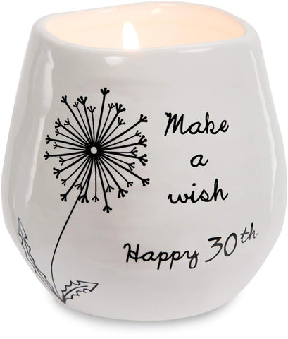 Pavilion 77161 Happy 30th  8 oz 100% Soy Wax Candle Scent: Serenity