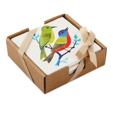 Hallmark 1ZLA1207 Set of 4 Bird Coasters
