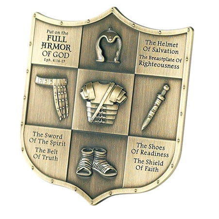 Dicksons Full Armor of God Ephesians 6 Shield Shape 3.5 inch Table Top Sign Plaque
