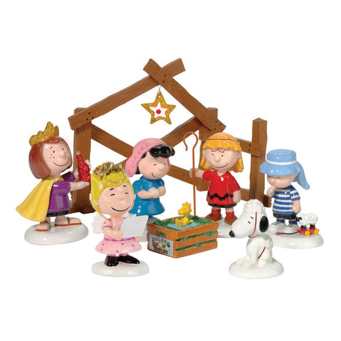 Enesco 802162 Peanuts Pageant, Set Of 8