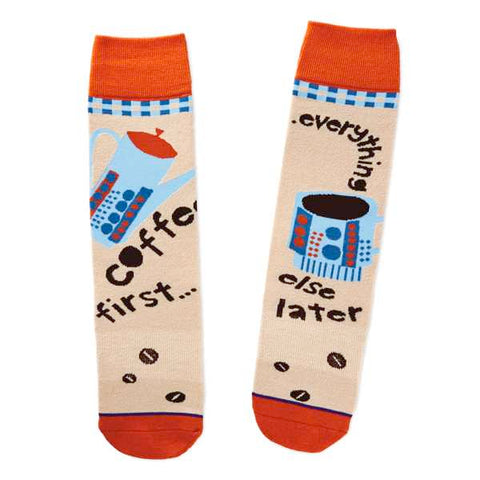 Hallmark 1SOX1018 Coffee First Socks