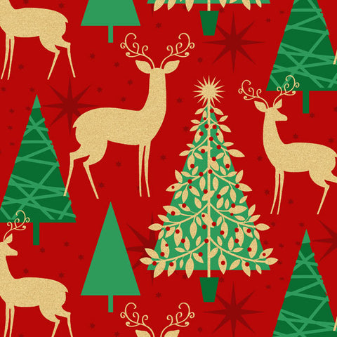 HMK XRW - Supersize Roll Wrap - Reindeer & Tree Red
