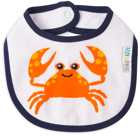 Pavilion 79421 Nautical Crab Baby Bib
