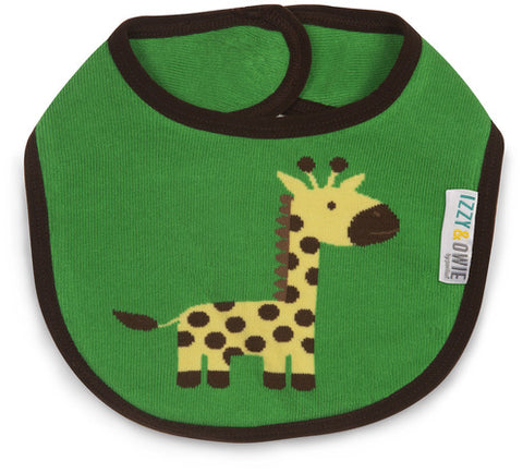 Pavilion 79355 Green and Yellow Giraffe Baby Bib