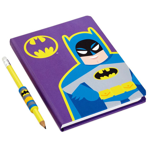 Hallmark DC Comics Batman Journal & Pencil With Grip
