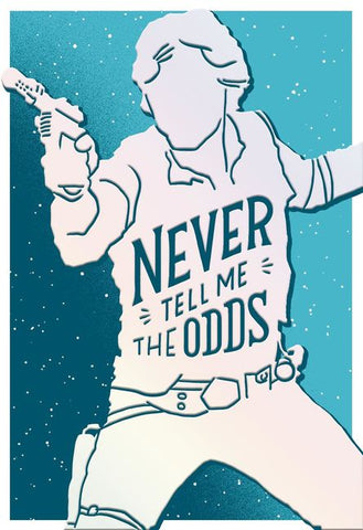 Hallmark Star Wars Han Solo Never Tell Me the Odds Birthday Card