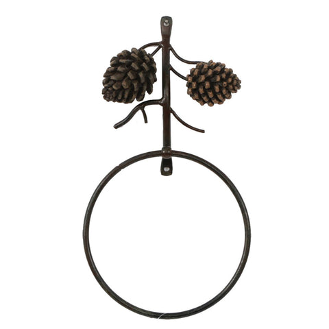DEI Country Pinecone Towel Ring, 6-Inch