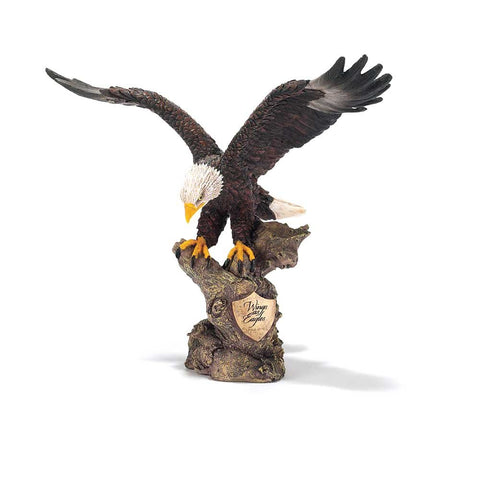 Dicksons Wings as Eagles Golden Shield Isaiah 40:31 Decorative 8 inch Bronze Finish Resin Stone Figu