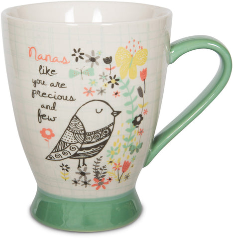 "Pavilion 74035 Nana Ceramic Mug, 16 oz, 5"", Mulicolored"