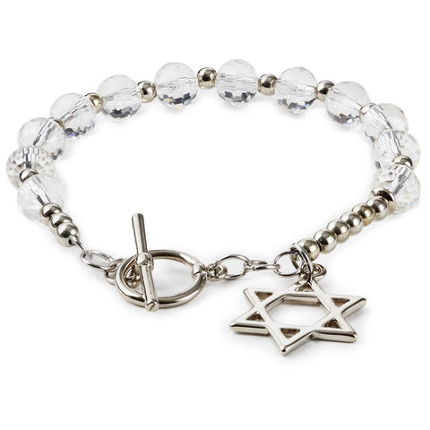 Hallmark Glass Star Of David Bracelet