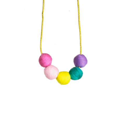 Hallmark Girls Decorative Pom-Pom Ball Necklace