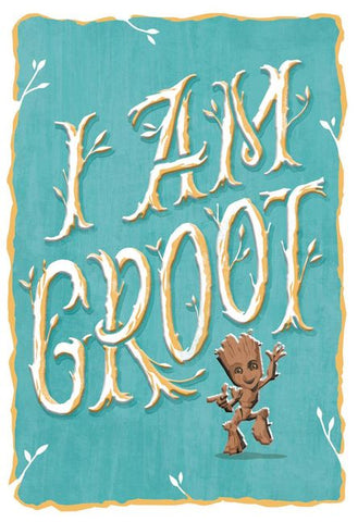 Hallmark Guardians of the Galaxy I Am Groot Blank Just Because Card