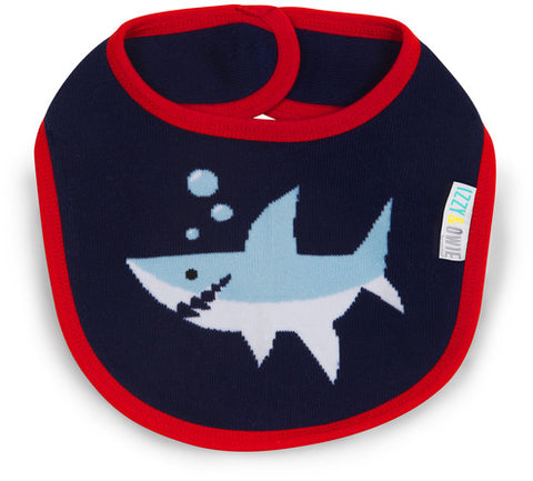 Pavilion 79356 Red and Navy Shark Baby Bib