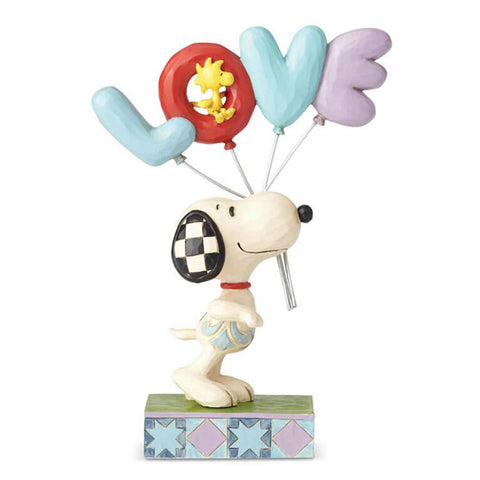 Enesco Jim Shore Peanuts Snoopy With Love Balloon Multicolor
