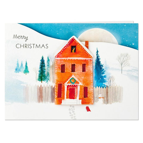 HMK CHR - Paper Wonder Santa and Reindeer Wishing You Wonder Mini Pop Up Christmas Card