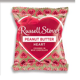 Russell Stover 243 Peanut Butter Heart Bar, 1.25 oz.