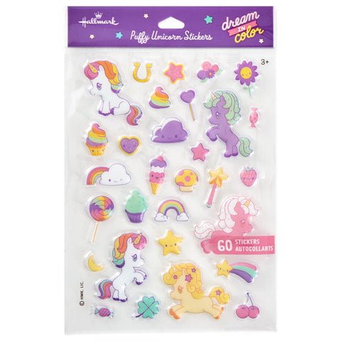 Hallmark Unicorn Puffy Stickers