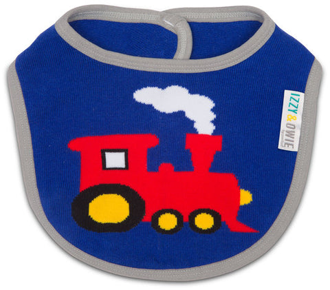 Pavilion 79419 Red and Blue Train Baby Bib