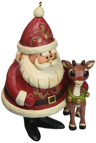 "Enesco Jim Shore ""Rudolph the Red-Nosed Reindeer"" Traditions, 50th Anniversary Ornament, 4.25"""