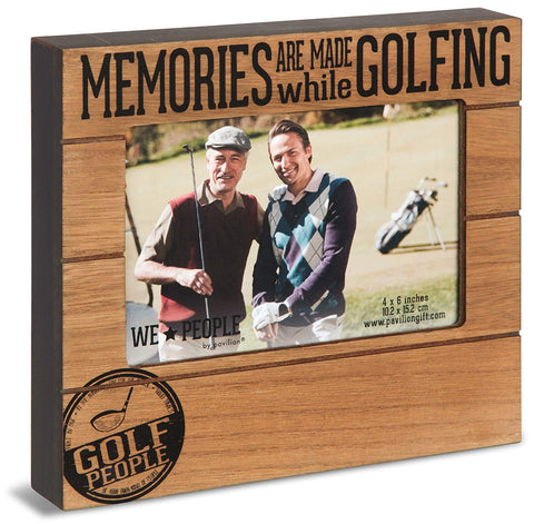 Pavilion 67262 We People-Memories are Made While Golfing 4x6 Picture Frame