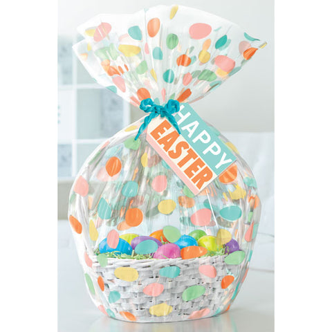 Hallmark Eggs Cello Basket Bag