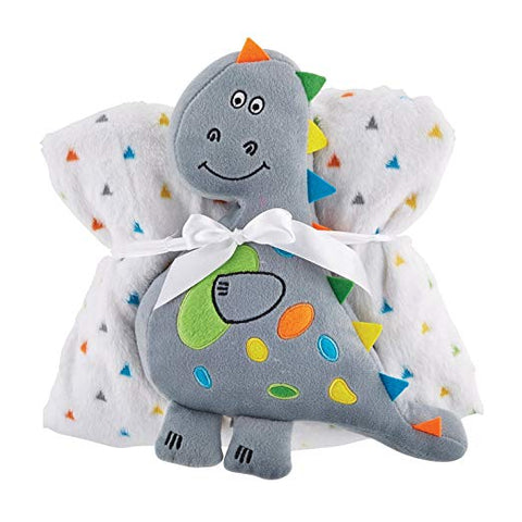 Santa Barbara 120386 Stephan Baby Super-Soft Fleece Crib Blanket and Plush Toy S
