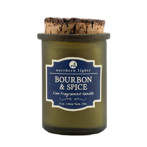 Northern Lights Candles Spirit Jar Candle, 5 oz, Bourbon and Spice