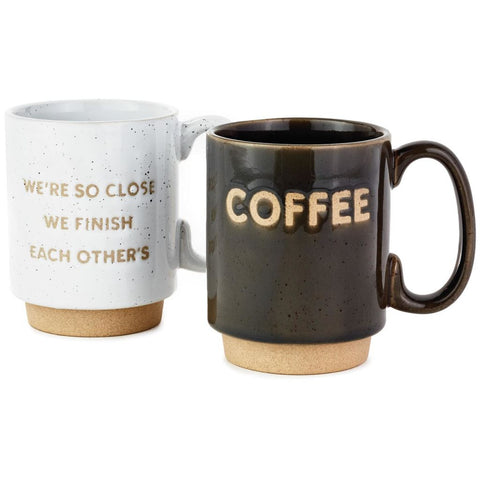 Hallmark Couples Stacking Coffee Mugs, Set of 2