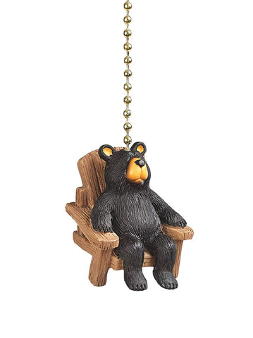 Clementine 380 Brown Bear in Chair Ceiling Fan Pull