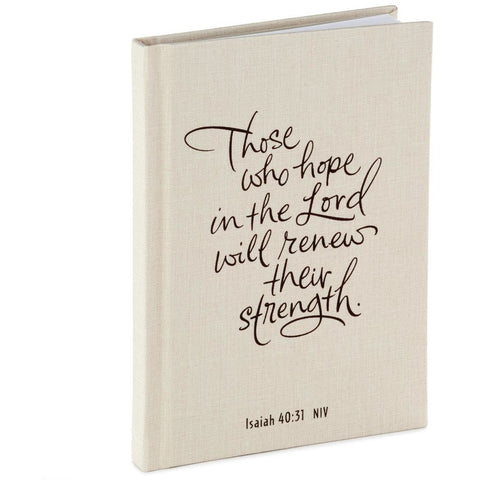 Hallmark Those Who Hope in the Lord Prayer Journal