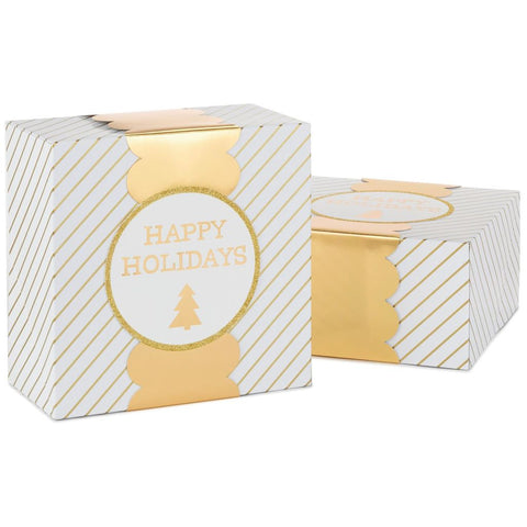 HMK CHR - Striped Gift Boxes With Gold Bands 2-Pack