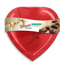 Russell Stover 7260P Whitman's Sugar Free Sampler Heart, 10 oz.
