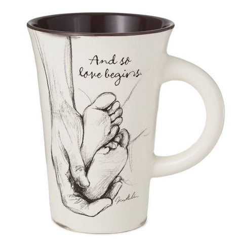 Hallmark And So Love Begins Baby Mug