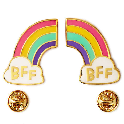 Hallmark BFF Rainbow Enamel Pin Set